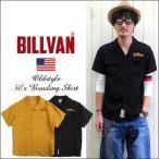 BILLVAN 50's ヴィンテージ フラップポケット レーヨン・オープンカラーシャツ メンズ アメカジ