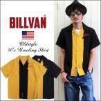 BILLVAN 50's ヴィンテージ パネル切替え レーヨン・オープンカラーシャツ メンズ アメカジ