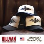 キャップ BILLVAN オールドアメリカン メッシュキャップ フライングホイール−0812 ビルバン メンズ アメカジ