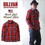 ネルシャツ BILLVAN マドラスチェック ヘビーフランネルシャツ RED CHECK ビルバン カジュアルシャツ メンズ アメカジ 送料無料 冬物