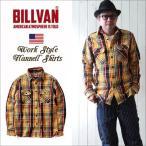 ネルシャツ BILLVAN マドラスチェック ヘビーフランネルシャツ YELLOW CHECK ビルバン カジュアルシャツ メンズ アメカジ 送料無料