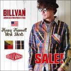 ネルシャツ 秋冬 BILLVAN ワークタイプ クレイジーチェック ヘビー ネルシャツ 002CRZ チェックシャツ メンズ アメカジ ビルバン カジュアルシャツ