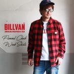 ネルシャツ BILLVAN レギュラー フランネル チェックシャツ ビルバン アメカジ メンズ