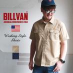 BILLVAN 半袖アメリカン・ワークシャツ  アメカジ ビルバン メンズ