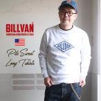 BILLVAN ビルバン アメカジ・定番ひし形ロゴ ミニ裏毛スウェット・ロングTシャツ メンズアメカジ Lightning ライトニング
