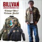 ジャケット BILLVAN ナイロンリップ 総刺繍 MA―1 スーベニア ジャケット ベトジャン メンズ アメカジ 送料無料 冬物
