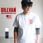 BILLVAN ヘビーウェイト・コットン 丸胴ボディー BILLVAN WORKSプリント Tシャツ ビルバン アメカジ
