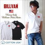 ポロシャツ BILLVAN ワッペン刺繍 鬼鹿の子ポロシャツ第2弾 ビルバン メンズ アメカジ 冬物