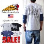 INDIAN MOTOCYCLE×ノウ・エレマン コラボレーション バックプリントTシャツ idm3 メンズ アメカジ