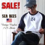 Sea Bees ヴィンテージ・ラグラン アメカジ7分袖Tシャツ  メンズ アメカジ 冬物