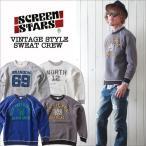 SCREEN STARS 60'sヴィンテージモデル アメカジプリント スウェットクルー トレーナー メンズ アメカジ 冬物