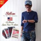 BILLVAN スパンフライス フィットスタイル 7分袖Tシャツ アメカジ パックシリーズ メンズ アメカジ 冬物