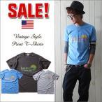 ショッピングレトロ レトロサーフ・スタイル アメカジプリント半袖Tシャツ North Carolina メンズ アメカジ