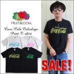 FRUIT OF THE LOOM コカ・コーラ ネオン・カラープリント半袖クルーネックTシャツ cc23 メンズ アメカジ