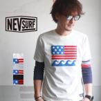 NEV SURF ネブ 星条旗サガラ刺繍 半袖Tシャツ n29101