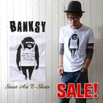 Tシャツ BANKSY ストリートアートTシャツ MONKEY 1602 バンクシー