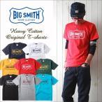 Tシャツ BIG SMITH オリジナルフレームロゴTシャツBS802 ビッグスミス メンズ アメカジ 冬物