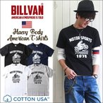 Tシャツ BILLVAN アメリカンスタンダード モータースポーツプリントTシャツ 0208prs ビルバン メンズ アメカジ