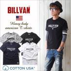 Tシャツ BILLVANアメリカンスタンダード トラロゴ プリントTシャツ 28131 メンズ アメカジ
