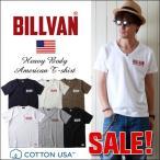 Tシャツ BILLVAN  アメリカンスタンダード 胸プリントVネックTシャツ 290626 ビルバン メンズ アメカジ