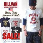 Tシャツ BILLVAN アメリカンワークス フロント プリントTシャツ 300306 ビルバン メンズ アメカジ 2018春夏 新作