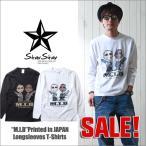 StarStar Team M.I.B イラストタッチ ロングTシャツ Printed in Japan メンズ アメカジ