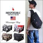 ショッピングメッセンジャー INDISPENSABLE インディスペンサブル タフ・マテリアル メッセンジャーバッグ メンズ アメカジ 送料無料