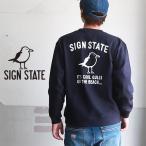 スウェット SIGN STATE バックプリント Cool Gulls ヘビースウェット クルー  サインステート アメカジ メンズ