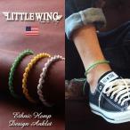 LITTLE WING ハンドメイド ヘンプ編み エスニックミサンガ LW220 メンズ アメカジ 冬物