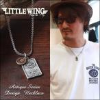 LITTLE WING プレートチャーム・コンビカラー アンティークネックレス LW222 メンズ アメカジ 冬物