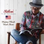 シャツ BILLVAN マドラスチェック ワーキング・チェックシャツ 31085E RED×GREY メンズ アメカジ 冬物