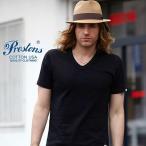 Yahoo!ブギースタイルTシャツ PRESTONSヘビータフ COTTON USA VネックTシャツ 6カラー ユニセックス プレストンズ メンズ アメカジ セール