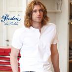 Tシャツ PRESTONSヘビー&タフ COTTON USA ヘンリーネックTシャツ 6カラー ユニセックス プレストンズ メンズ アメカジ