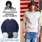 ロンT PRESTONS COTTON USA ガゼット付き ロングTシャツ 4カラー プレストンズ メンズ アメカジ 冬物