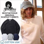 ワッフル PRESTONS COTTON USA ワッフル サーマルロングTシャツ 4カラー プレストンズ メンズ アメカジ 冬物