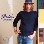 PRESTONSヘビー&タフ COTTON USA クルーネックリブ付きロングTシャツ 4カラープレストンズ メンズ アメカジ