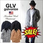 GLV/galvanize ガルバナイズ スライバーニット 襟切替えチェスターコート メンズ アメカジ 送料無料 冬物