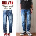 BILLVAN #705 スリムフィット ヴィンテージ加工 デニムパンツLT/INDIGO ビルバン ジーンズ メンズ アメカジ 送料無料 冬物