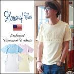 HOUSE OF BLUES エンボス HOLLYWOOD 半袖Tシャツ メンズ アメカジ