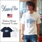 HOUSE OF BLUES デニムエンボス BEACH ロゴデザイン Tシャツ メンズ アメカジ