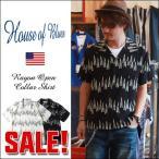 HOUSE OF BLUES レーヨン100% 総柄シリーズ オープンカラーシャツ 1815187 メンズ アメカジ