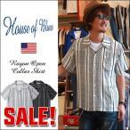 HOUSE OF BLUES レーヨン100% 総柄シリーズ オープンカラーシャツ 1815189 メンズ アメカジ
