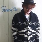 ショッピングモコモコ HOUSE OF BLUES ハウスオブブルース モコモコパイル ネイテイブ柄 ショールカーディガン メンズ アメカジ 送料無料
