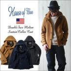 HOUSE OF BLUES ダブル・フェイスメルトン ステンカラーフードジャケット メンズ アメカジ 送料無料 冬物