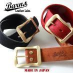BARNS 日本製スウェード本革ベルト ゴールドバックル ウィニー社 ベンズレザー LE3055S メンズ アメカジ 送料無料
