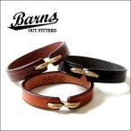 BARNS イタリアン・タンニングレザー 本革ブレスレット LE4066 メンズ アメカジ