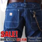 HOUSTON×BILLVAN日本製ウォバッシュストライプぺインターワークパンツ ビルバン メンズデニム ジーンズ メンズ アメカジ 送料無料