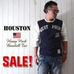 HOUSTON 70'sモデルWEST POINT ベースボール7分袖Tシャツ メンズ アメカジ