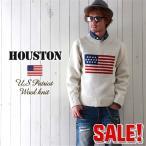 HOUSTON ハンドメイド ウール100% パトリオット セーター ローゲージニット メンズ アメカジ 送料無料