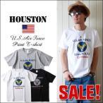 HOUSTON ヒューストン USエアフォース プリントアメカジTシャツ 21164 メンズ アメカジ